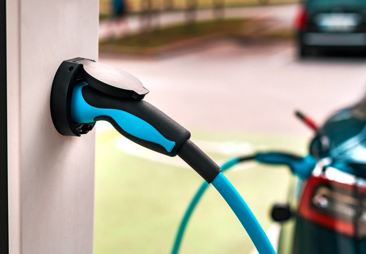 EV charger outlet